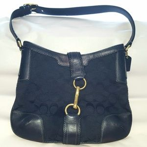 Coach black D0768-11058 hobo with wallet
